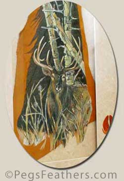 Fine Art by Peg Fennimore - Autumn Elk Painting